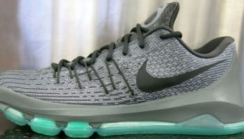 Nike KD 8 Night Silver/Deep Pewter-Tumbled Grey-Green Glow
