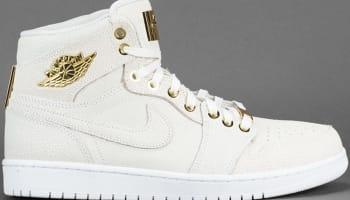 Air Jordan 1 Retro High OG Pinnacle White/White-Metallic Gold-White
