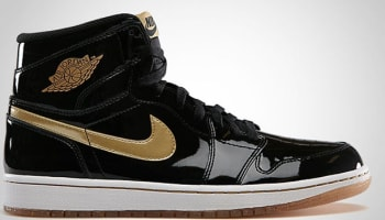 Air Jordan 1 Retro High OG Black/Metallic Gold Patent