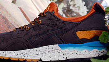 Asics Gel-Lyte V Dark Brown/Orange-Sky Blue