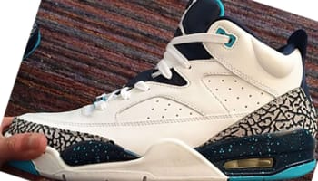 Jordan Son Of Mars Low White/White-Midnight Navy-Turquoise Blue