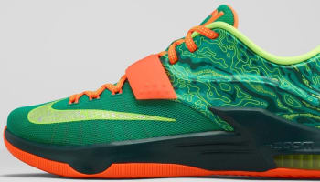 Nike KD VII Emerald Green/Metallic Silver-Dark Emerald-Total Orange