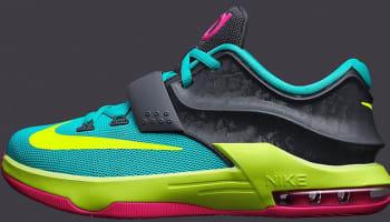 Nike KD VII GS Hyper Jade/Hyper Pink-Dark Base Grey-Volt