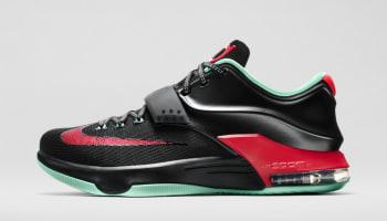 Nike KD VII Black/Action Red-Medium Mint