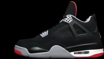 Air Jordan 4 Retro Black/Cement Grey '12