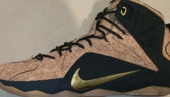 Nike LeBron 12 EXT QS Hazelnut/Metallic Gold-Black