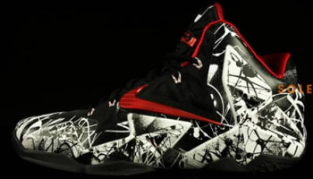 Nike LeBron 11 White/University Red-Black