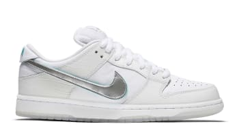 Diamond Supply Co. x Nike SB Dunk Low White/Chrome-Black-Tropical Twist