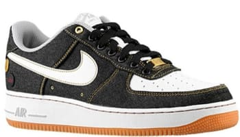 Nike Air Force 1 Low '07 Denim Black/Gum Medium Brown-Wolf Grey