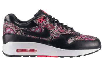 Nike Air Max 1 Liberty QS Women's Black/Black-Solar Red-White