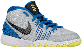 Nike Kyrie 1 GS White/Black-Light Voltage Yellow-Light Photo Blue-Metallic Silver