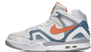 Nike Air Tech Challenge II QS White/Orange Burst-Clay Blue-Flat Silver