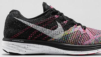 Nike Flyknit Lunar 3 Women's Black/Pink Pow-Blue Lagoon-White