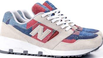 New Balance 575 White/Red-Blue