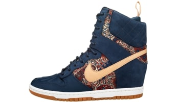 Nike Dunk Sky Hi Sneakerboot Liberty QS Women's Armory Navy/Vachetta Tan