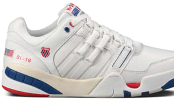 K-Swiss Si-18 International OG White/Classic Blue-Fiery Red