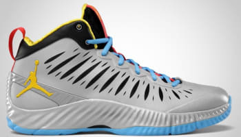 Jordan Super Fly Stealth/Speed Yellow- University Blue- Sunburst