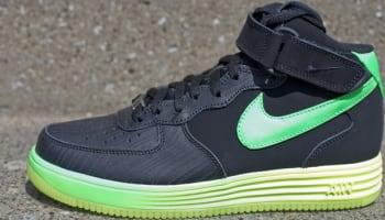 Nike Lunar Force 1 Mid LTR Black/Poison Green-Volt