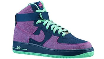 Nike Air Force 1 High Brave Blue Cherrywood Red-Green Glow 381b62d6b