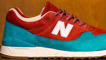 New Balance 496 Red/Turquoise