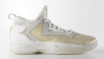 adidas D Lillard 2 Running White/Gold Metallic-Grey