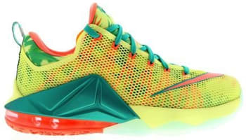 Nike LeBron 12 Low White Lime/Bright Mango-New Green