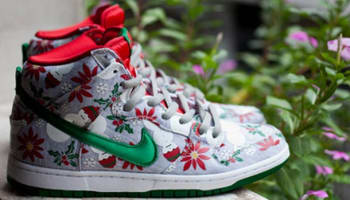 Nike Dunk High Premium SB Grey Heather/Pine Green-University Red