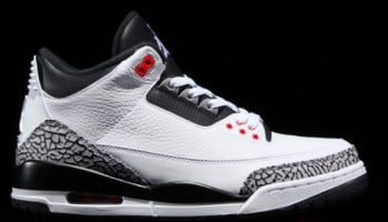 Air Jordan 3 Retro White/Black-Cement Grey-Infrared 23