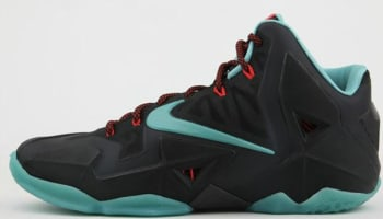 Nike LeBron 11 Black/Diffused Jade-Light Crimson-Jade Glaze