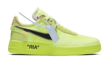 Off-White x Nike Air Force 1 Low Volt/Cone-Black-Hyper Jade
