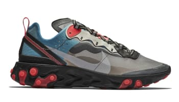 Nike React Element 87 Black/Cool Grey-Blue Chill-Solar Red