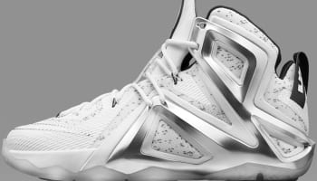 Nike LeBron 12 Elite SP White/Metallic Silver-Black