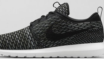 Nike Roshe Run Flyknit Black/Sequoia-Light Armory Blue-Black