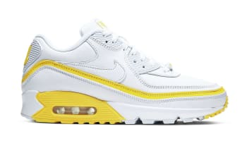 Undefeated x Nike Air Max 90 White/Optic Yellow