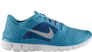 Nike Free Run+3 Women's N7 Dark Turquoise/Reflective Silver-White-Pink Flash