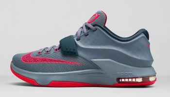 Nike KD VII Base Grey/Hyper Punch-Light Magnet Grey