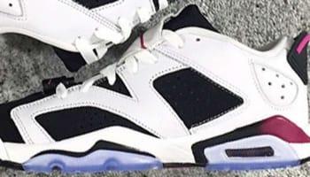 Air Jordan 6 Retro Low Girls White/Black-Fuchsia Flash