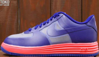 Nike Lunar Force 1 Fuse LTR Wolf Grey/Deep Royal Blue-Atomic Red