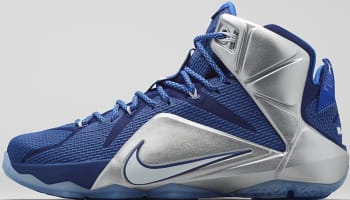 Nike LeBron 12 Deep Royal Blue/White-Metallic Silver-Lyon Blue
