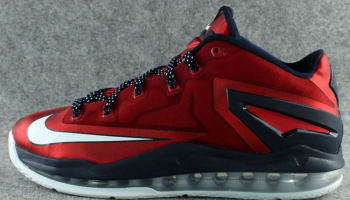 Nike LeBron 11 Low University Red/White-Obsidian