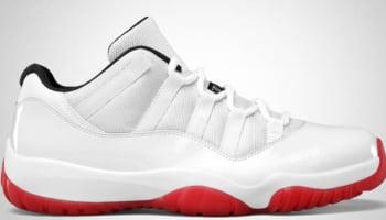 Air Jordan 11 Retro Low White/Varsity Red-Black