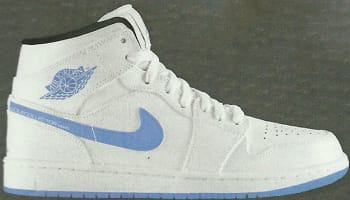 Air Jordan 1 Retro Mid White/Legend Blue-Black