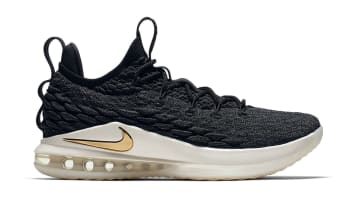 Nike LeBron 15 Low Black/Metallic Gold-Phantom