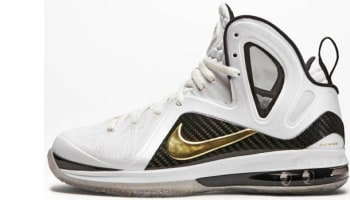 Nike LeBron 9 PS Elite White/Metallic Gold