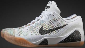 Nike Kobe IX Premium White/Black-Gum Medium Brown