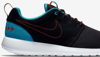 Nike Roshe One N7 Black/Black-Dark Turquoise-University Red