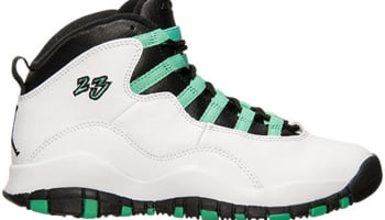 Air Jordan 10 Retro Girls White/Verde-Black-Infrared 23