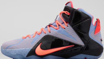 Nike LeBron 12 Aluminum/Sunset Glow-Hot Lava-Black