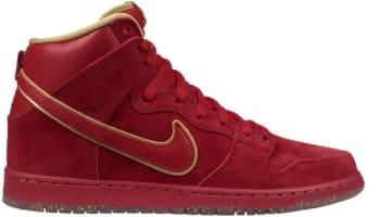 Nike Dunk High Premium SB CNY University Red/University Red-Metallic Gold