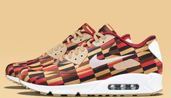 Nike Air Max '90 Lux JCRD SP White/Black-Pomegranate